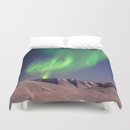 The Northern Lights (Aurora Borealis) Duvet Cover