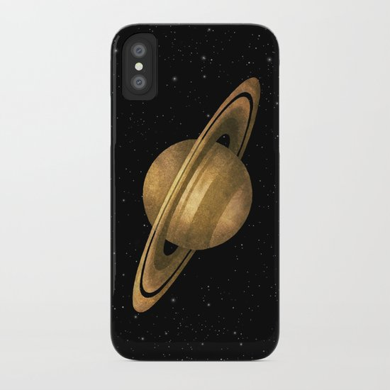 saturn iphone case by terry fan society6. Black Bedroom Furniture Sets. Home Design Ideas