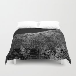 Cleveland map Ohio Duvet Cover