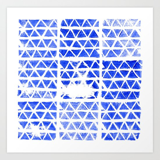 triangle stamp Art Print