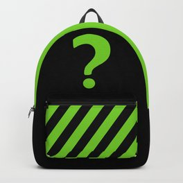 Enigma - green question mark Backpack