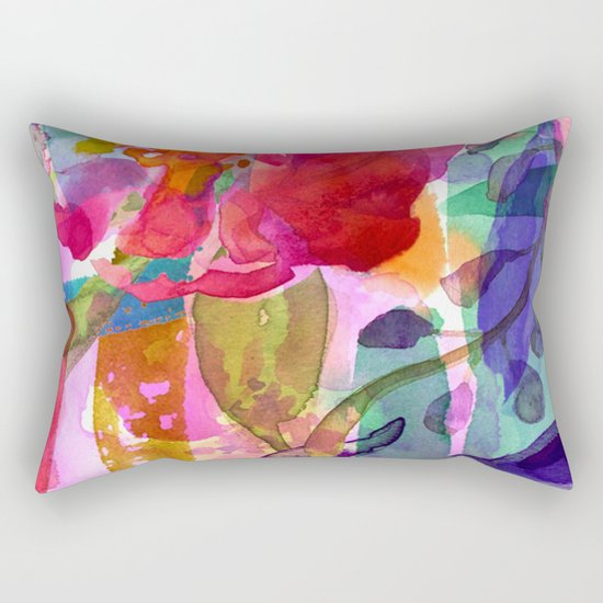 abstract bouquet Rectangular Pillow