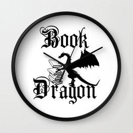Book Dragon Wall Clock