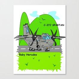 """C-27J """"Spartan"""" Aircraft Canvas Print"""