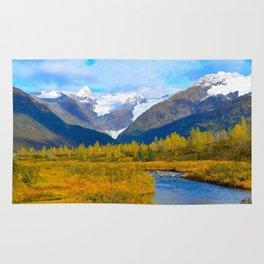 Autumn in Portage Valley - Alaska Rug