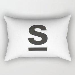 Letter and Line Rectangular Pillow
