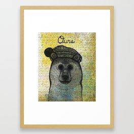 Ours (Bear) Framed Art Print