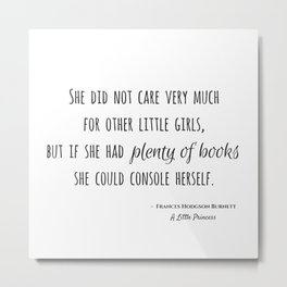 Book Therapy Metal Print