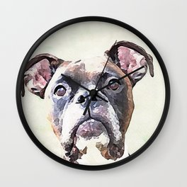 Brindle Boxer Dog Wall Clock