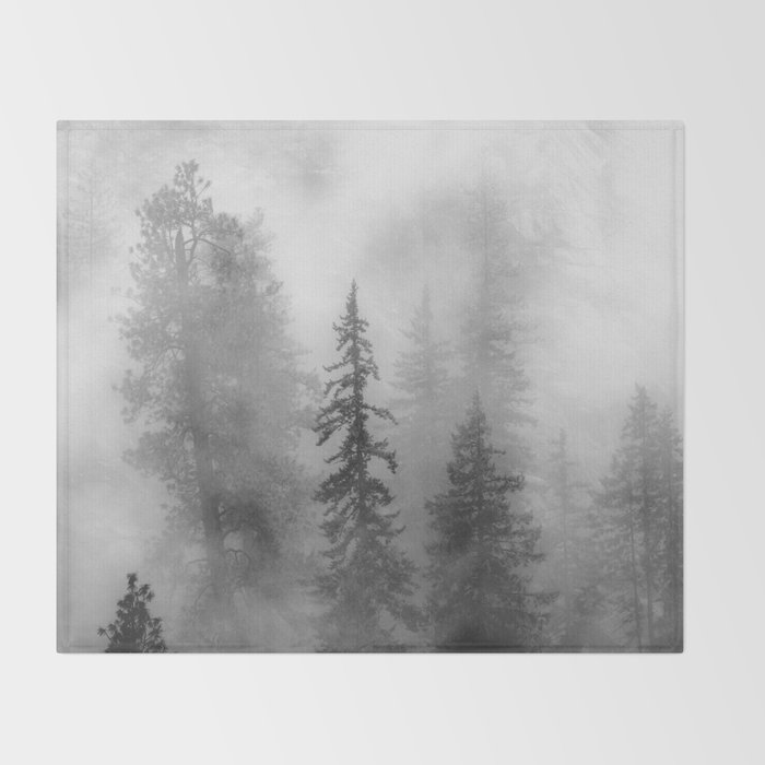Forest In The Clouds - Nature Photography Throw Blanket