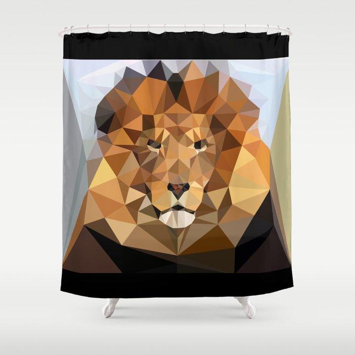Lion Techy Art Shower Curtain