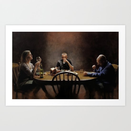 """These are great green beans, Mrs White"" Art Print"