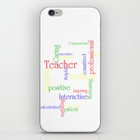 teacher iPhone & iPod Skins featuring Teacher by Sylvia C