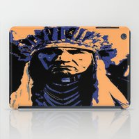 native american iPad Cases featuring Native American Head Dress  by T.E.Perry
