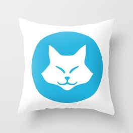 MOCHI SMILE Throw Pillow