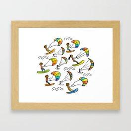 Kiting Framed Art Print