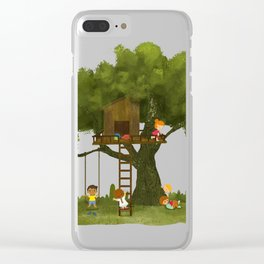 Tree Kids House Clear iPhone Case