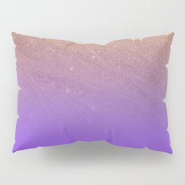 Elegant gold faux glitter chic purple gradient pattern Pillow Sham
