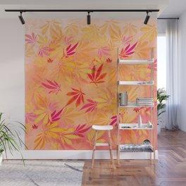 Citrus Cannabis Swirl Wall Mural