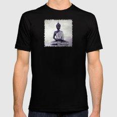 Buddha  - JUSTART © Mens Fitted Tee Black X-LARGE