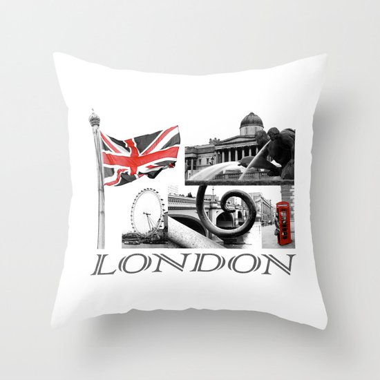 London Reds Throw Pillow