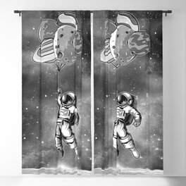 Astronaut & Balloons Planets Blackout Curtain