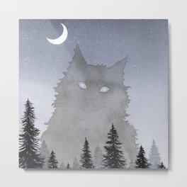 Giant Forest Cat Metal Print
