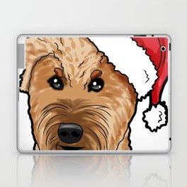 Irish Soft Coated Wheaten Terrier Dog Christmas Hat Laptop & iPad Skin