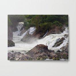 Mekong River Li Phi Waterfalls, Laos Metal Print