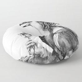 Tête-à-tête with Botticelli Floor Pillow