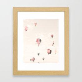 Hot Air Balloons, White Framed Art Print