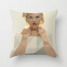 Blonde Summer Throw Pillow