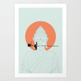 Buddha : Make Love! Art Print