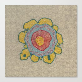 Growing - Pinus 1 - plant cell embroidery Canvas Print