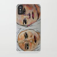 swan queen iPhone & iPod Cases featuring Swan Queen by Bernadette Woods