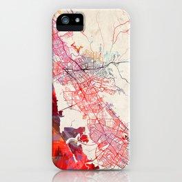 Hayward map California painting iPhone Case
