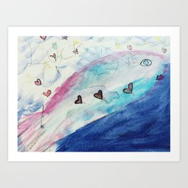 Lucky in Love, Dreams and Affirmations Series Art Print