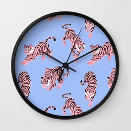Pink Tigers Wall Clock