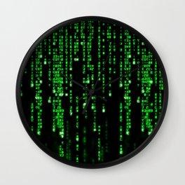 Matrix Binary Code Wall Clock