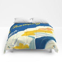 Vintage Champery Switzerland Travel Comforters