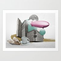 led zeppelin Art Prints featuring Zeppelin by Pepper / Shop
