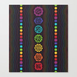 Rainbow Chakras Canvas Print