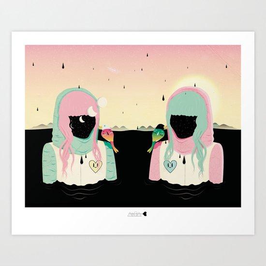 How she met herself in a dream Art Print