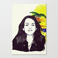 ultraviolence Canvas Prints featuring THE ULTRAVIOLENCE GIRL by Robert Red ART