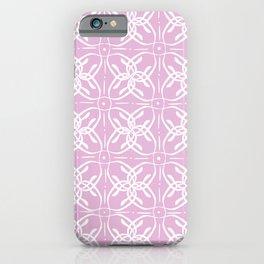 Pink Horseshoe Flower Pattern iPhone Case