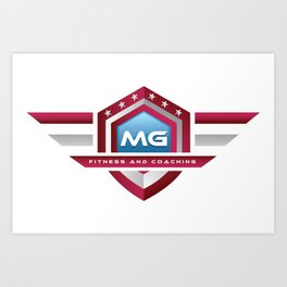 MG Fitness and Coaching Logo Art Print