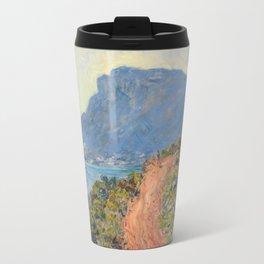 Claude Monet La Corniche near Monaco 1884 Travel Mug