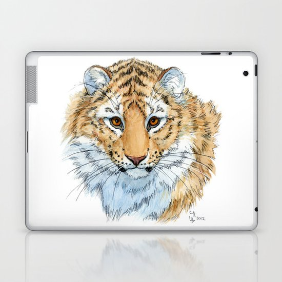 Young Sweet Tiger Laptop & iPad Skin