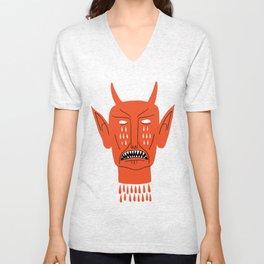 Devil's Head Unisex V-Neck