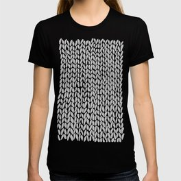 Hand Knit Grey Black T-shirt